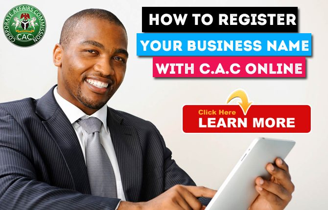HOW TO REGISTER A BUSINESS NAME  WITH C.A.C  ONLINE