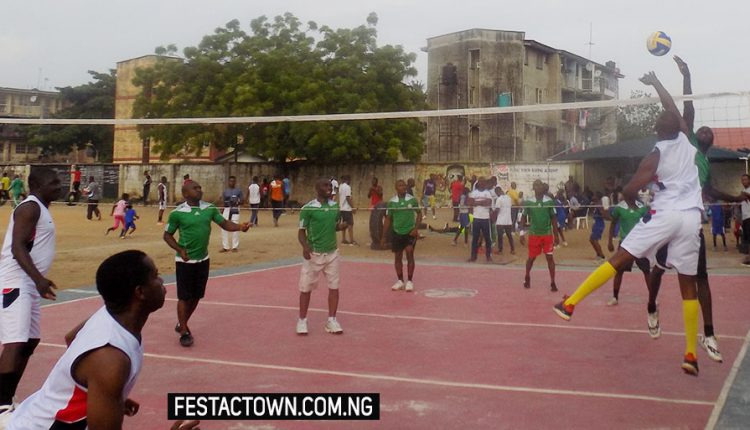 Festac Volleyball Club defeats Tigers of Kirikiri Volleyball Team 3-2 in a friendly match